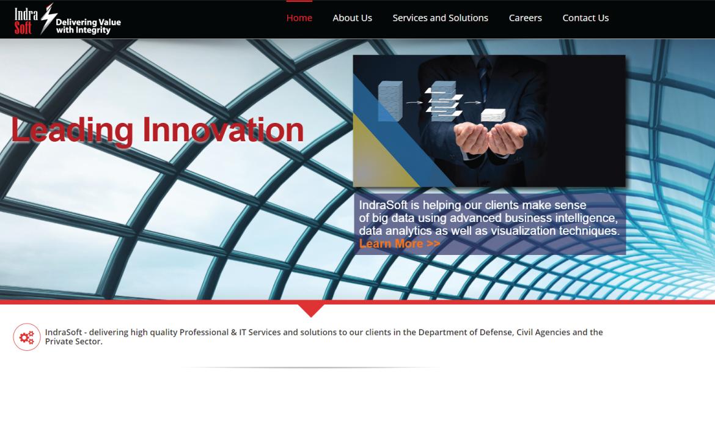 IndraSoft Inc. Website