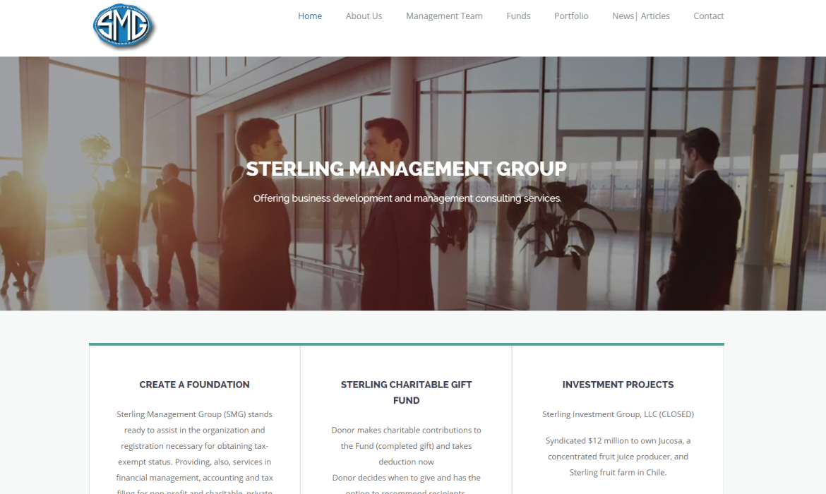 Sterling Management Website Redesign