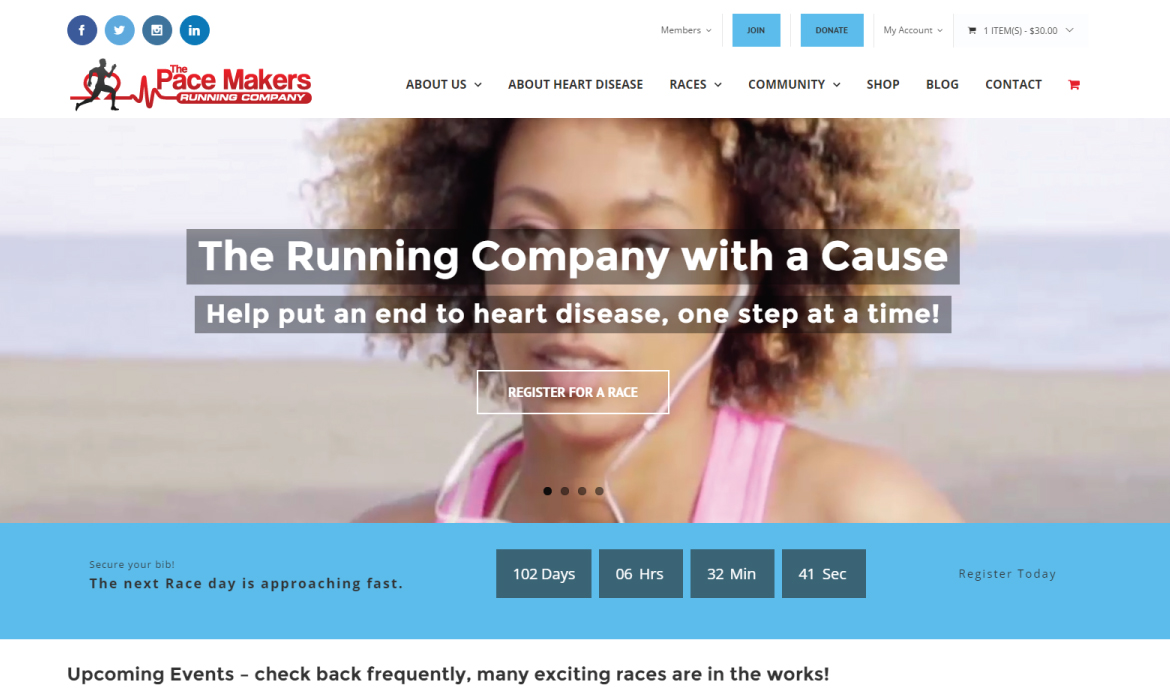 The Pace Makers Running Company Website